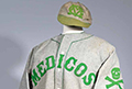 Piece of the Past - An MCV baseball uniform from the 1930s is a new addition to the medical artifact collection of Tompkins-McCaw Library's Special Collection and Archives.
